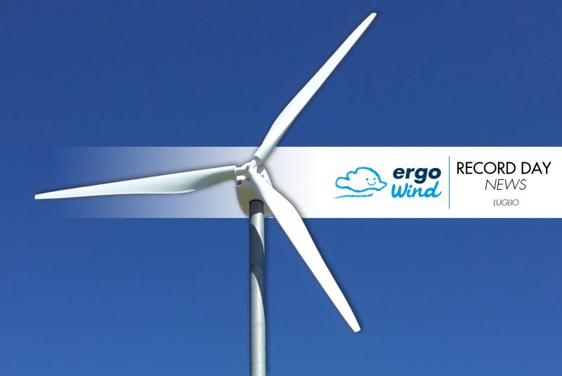 Record Day News: luglio e il mini eolico Ergo Wind