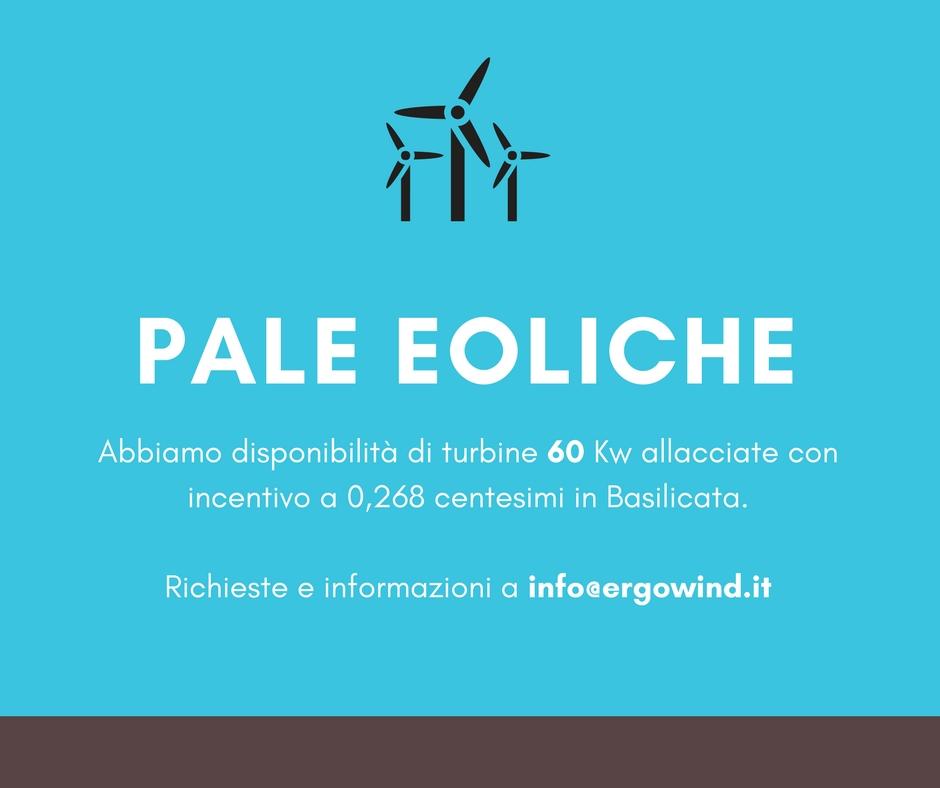 Disponibilità Pale Eoliche allacciate a 0,268